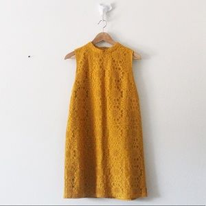 Forever 21 Floral Lace Sleeveless Zip Dress 1972